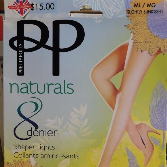 439e22135 Pretty Polly Naturals Shaper Nylon Pantyhose M L